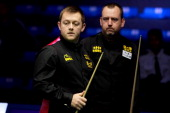 Mark Allen of England competes against Mark Williams of Wales on day three of the 2014 Snooker Haikou World Open on March 12 2014 in Haikou Hainan...