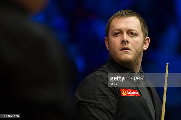 Mark Allen of Northern Ireland reacts in the semifinal match against Ronnie O'Sullivan of England on day five of Champion of Champions 2016 at Ricoh...