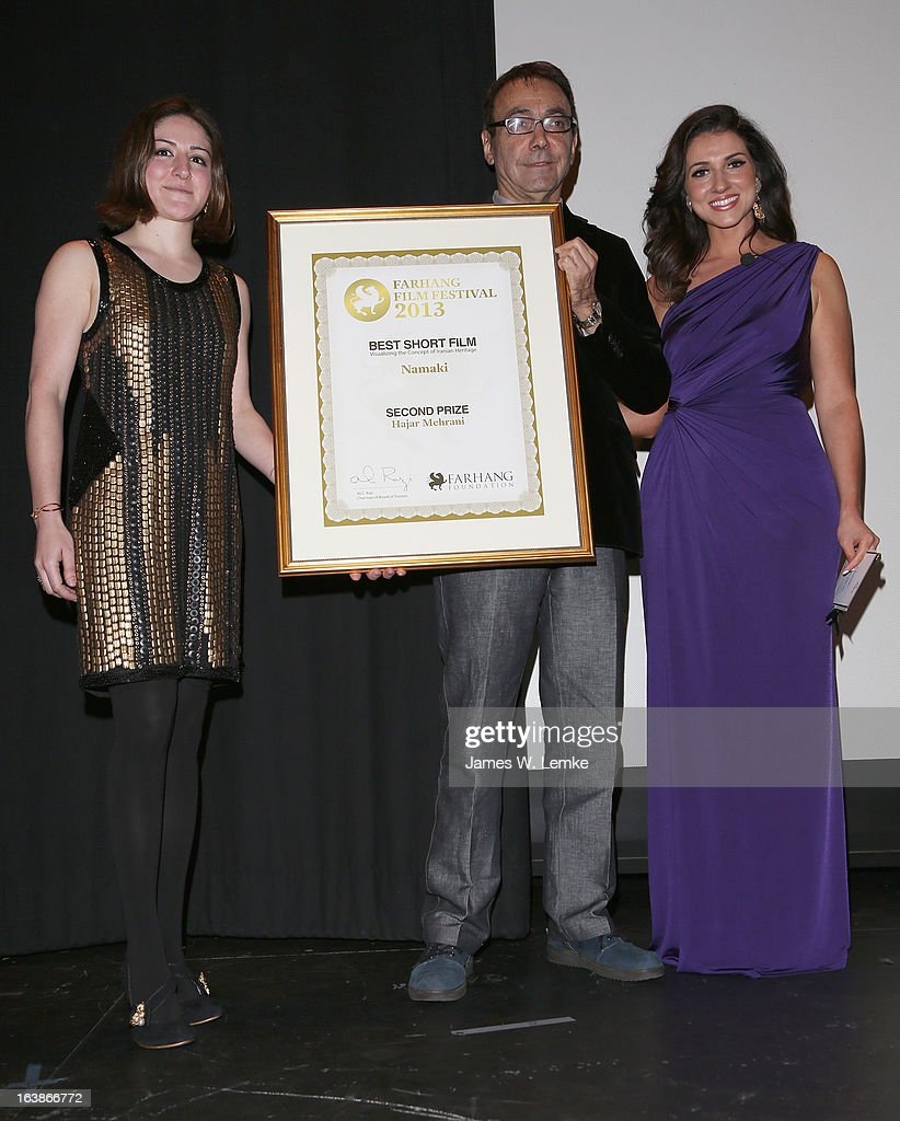 Mark Amin and Shirin Rajaee attend the 2013 Farhang Foundation Short Film Festival held at the Bing Theatre at LACMA on March 16, 2013 in Los Angeles, California.
