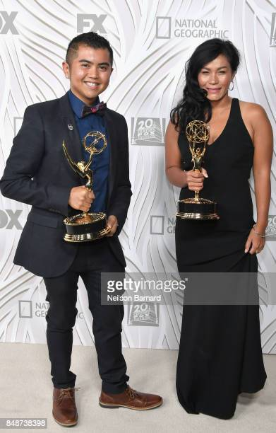 Mark Anthony J Nazal and Sina San attend FOX Broadcasting Company Twentieth Century Fox Television FX And National Geographic 69th Primetime Emmy...