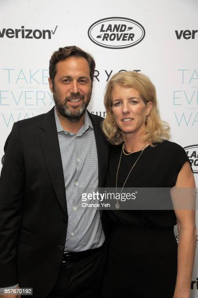 Mark Bailey and Rory Kennedy attend 'Take Every Wave The Life Of Laird Hamilton' New York premiere at The Metrograph on October 4 2017 in New York...