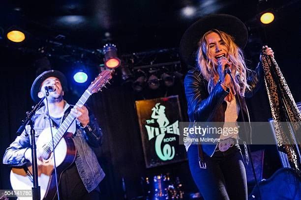 Mark Ballas and BC Jean of 'Alexander Jean' perform live at The Viper Room on January 8 2016 in West Hollywood California