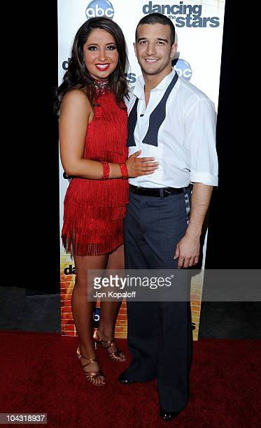 Mark Ballas and dance partner Bristol Palin pose at 'Dancing With The Stars' Season Premiere at CBS Studios on September 20 2010 in Los Angeles...