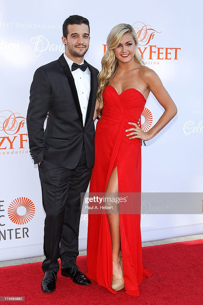 Mark Ballas (L) and Lindsay Arnold attend the 3rd Annual Dizzy Feet Foundation's Celebration Of Dance Gala at Dorothy Chandler Pavilion on July 27, 2013 in Los Angeles, California.