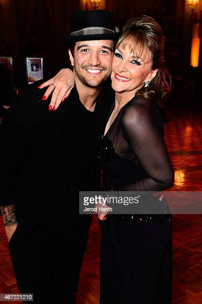 Mark Ballas and Shirley Ballas attend the 2015 Royal Ball Hollywood Gala at Millennium Biltmore Hotel on March 21 2015 in Los Angeles California