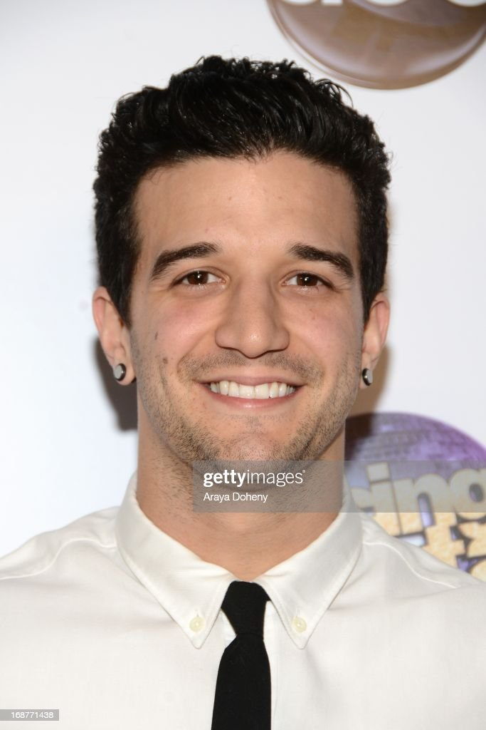 <a gi-track='captionPersonalityLinkClicked' href=/galleries/search?phrase=Mark+Ballas&family=editorial&specificpeople=4531129 ng-click='$event.stopPropagation()'>Mark Ballas</a> arrives at the 'Dancing With The Stars' 300th episode red carpet event on May 14, 2013 in Los Angeles, California.