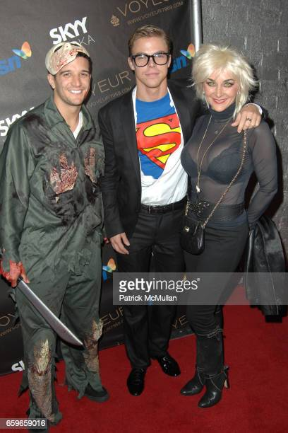 Mark Ballas Derek Hough and Shirley Ballas attend HEIDI KLUM'S 10TH ANNUAL HALLOWEEN PARTY PRESENTED BY MSN AND SKYY VODKA at Voyeur on October 31...