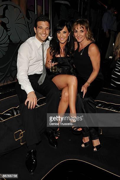 Mark Ballas Joanna Pacitti and Shirley Ballas attend The Bank Nightclub at the Bellagio Hotel Casino on June 5 2009 in Las Vegas Nevada