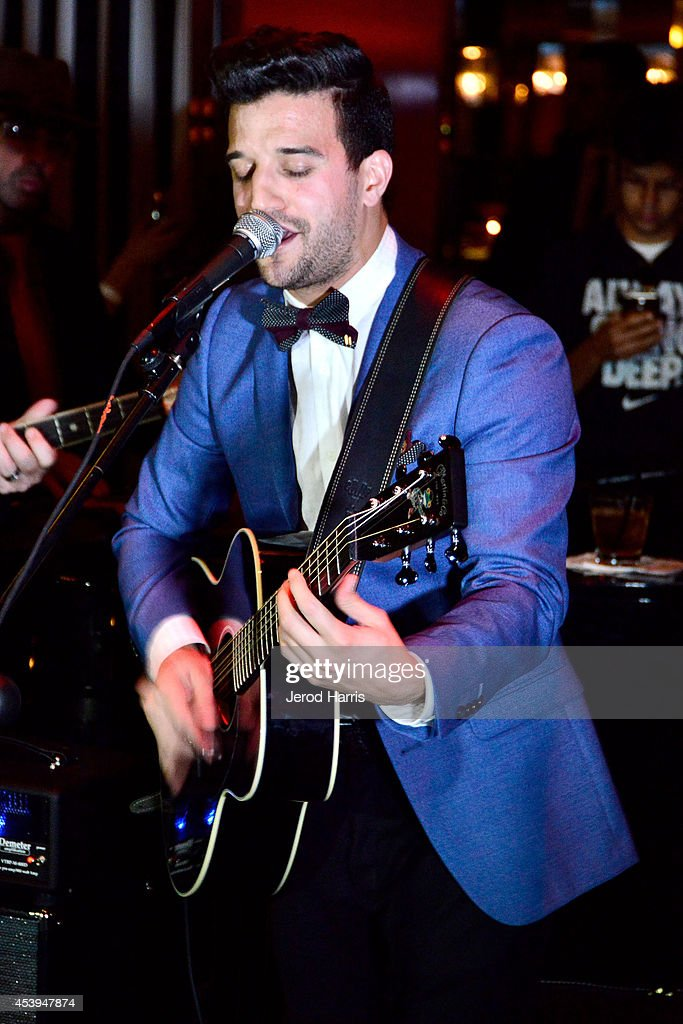 Mark Ballas performs at OK! TV Awards Party at Sofitel Hotel on August 21, 2014 in Los Angeles, California.