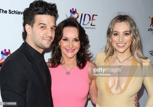 Mark Ballas Shirley Ballas and BC Jean attend the Ride Foundation's Inaugural Gala dance for Africa at Boulevard3 on July 23 2017 in Hollywood...