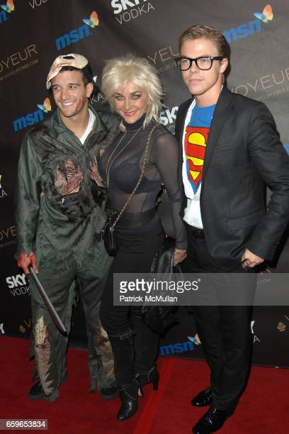 Mark Ballas Shirley Ballas and Derek Hough attend HEIDI KLUM'S 10TH ANNUAL HALLOWEEN PARTY PRESENTED BY MSN AND SKYY VODKA at Voyeur on October 31...