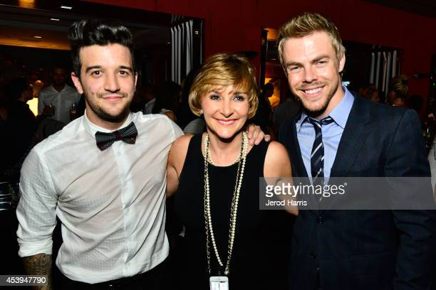 Mark Ballas Shirley Ballas and Derek Hough attend OK TV Awards Party at Sofitel Hotel on August 21 2014 in Los Angeles California