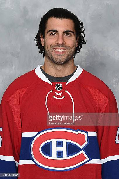 Mark Barberio of the Montreal Canadiens poses for his official headshot for the 20162017 season on September 22 2016 at the Bell Sports Complex in...