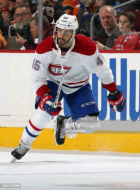 Mark Barberio of the Montreal Canadiens skates against the Philadelphia Flyers on January 5 2016 at the Wells Fargo Center in Philadelphia...