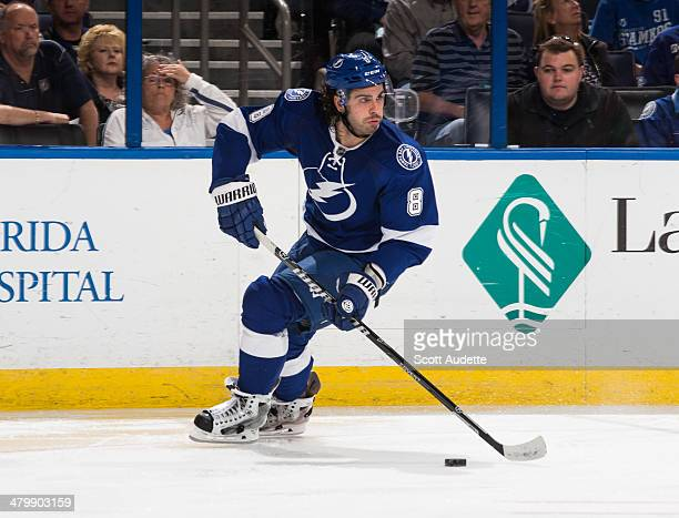 Mark Barberio of the Tampa Bay Lightning skates against the Phoenix Coyotes at the Tampa Bay Times Forum on March 10 2014 in Tampa Florida