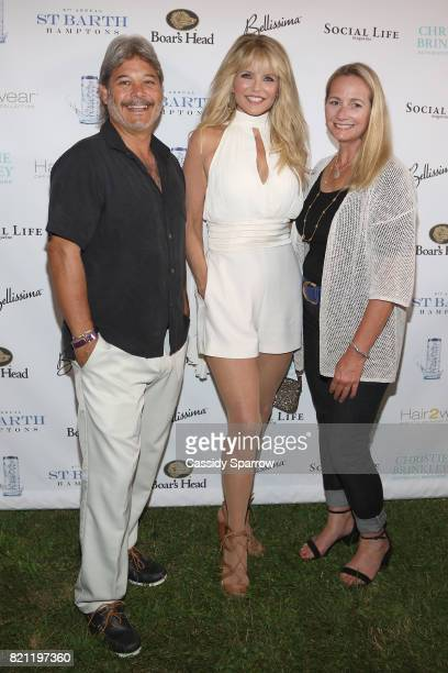 Mark Baron Christie Brinkley and Jane Babcook attend the 6th Annual St Barth Hamptons Gala at Bridgehampton Historical Museum on July 22 2017 in...