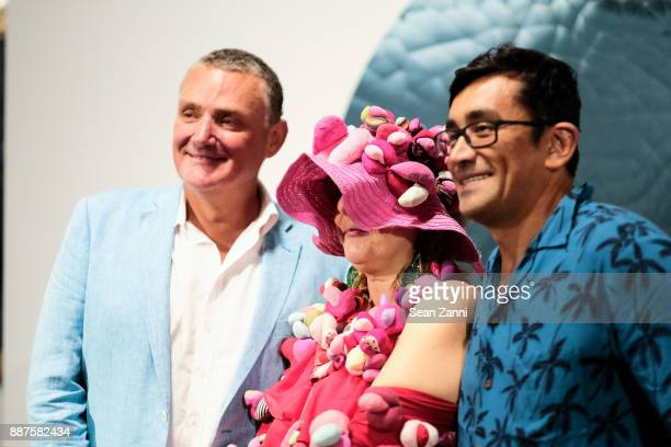 Mark Barrett Alexandra Holownia and Raphael Henandez attend Art Basel Miami Beach Private Day at Miami Beach Convention Center on December 6 2017 in...