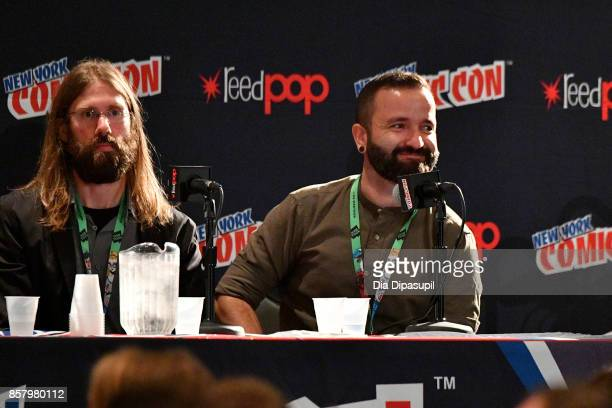 Mark Basso and Javaier Garron speak during Marvel Legacy Next Big Thing 2017 New York Comic Con Day 1 on October 5 2017 in New York City