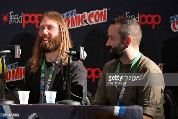 Mark Basso and Javier Garron speaks during Marvel Legacy Next Big Thing 2017 New York Comic Con Day 1 on October 5 2017 in New York City