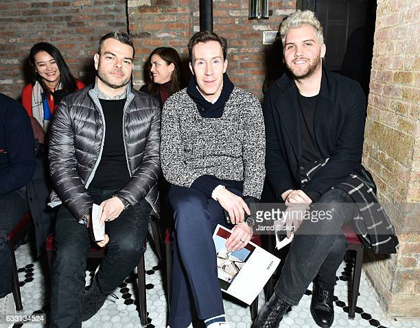 Mark Beckam Eric Jennings and Cal McNeill attend Billy Reid Front Row NYFW Men's at The Cellar at The Beekman on January 30 2017 in New York City