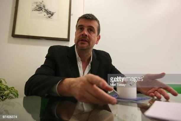 Mark Billingham creator of the Tom Thorne detective novels in New Delhi on February 26 2010