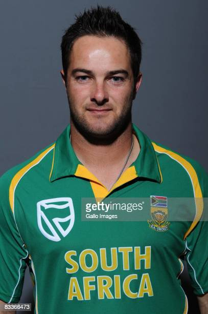 Mark Boucher poses during the South African One Day International team portait session at Grayston Southern Sun on October 20 2008 in Johannesburg...