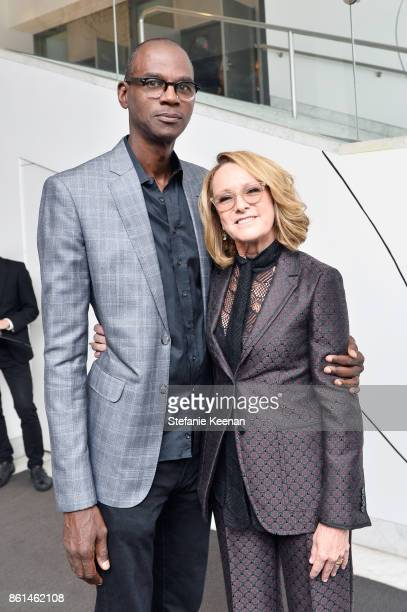 Mark Bradford and Ann Philbin at the Hammer Museum 15th Annual Gala in the Garden with Generous Support from Bottega Veneta on October 14 2017 in Los...