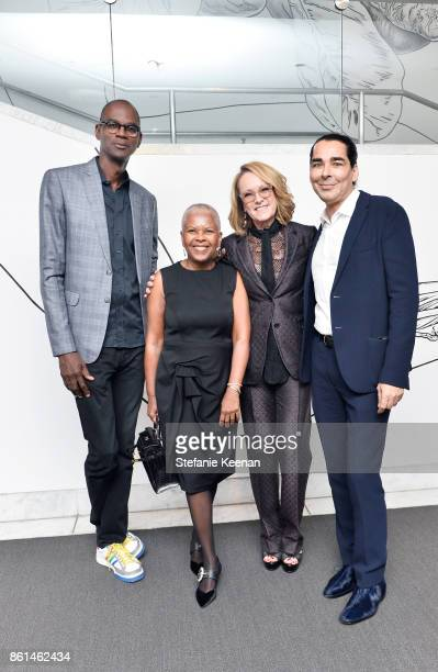 Mark Bradford Eileen Harris Norton Ann Philbin and Allan DiCastro at the Hammer Museum 15th Annual Gala in the Garden with Generous Support from...