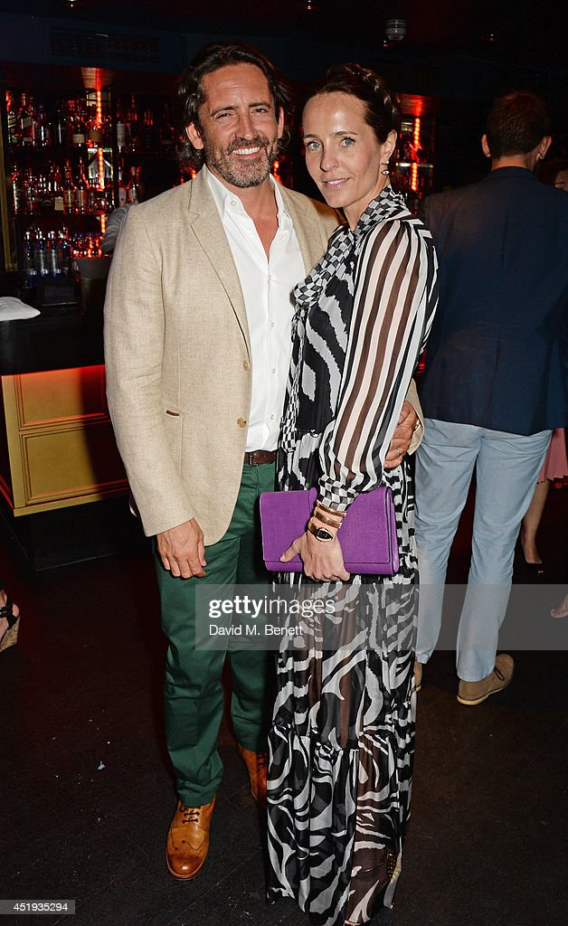 Mark Brangstrup Watts (L) and Julie Brangstrup attend Jo Wood and Yasmin Mill's Summer Party at Boujis on July 9, 2014 in London, England.