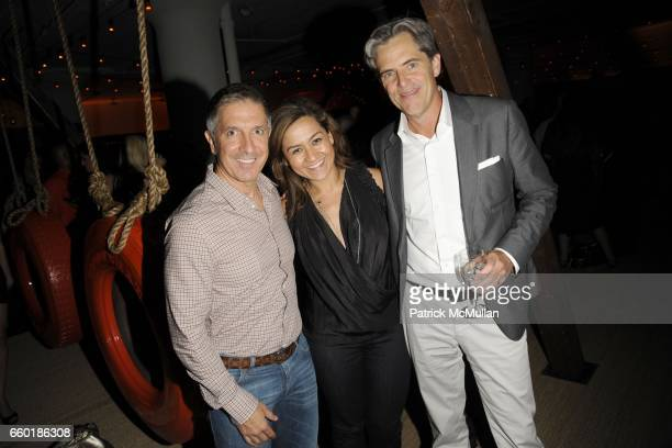 Mark Brashear Tina Aniversario and Peter Hunsinger attend BOSS ORANGE New Direction Party at 601 West 26th street on July 23 2009 in New York City