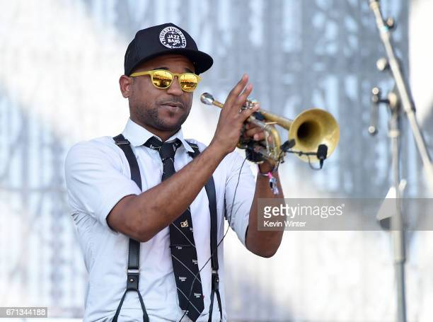 Mark Braud of the Preservation Hall Jazz Band performs on the Coachella Stage during day 1 of the 2017 Coachella Valley Music Arts Festival at the...