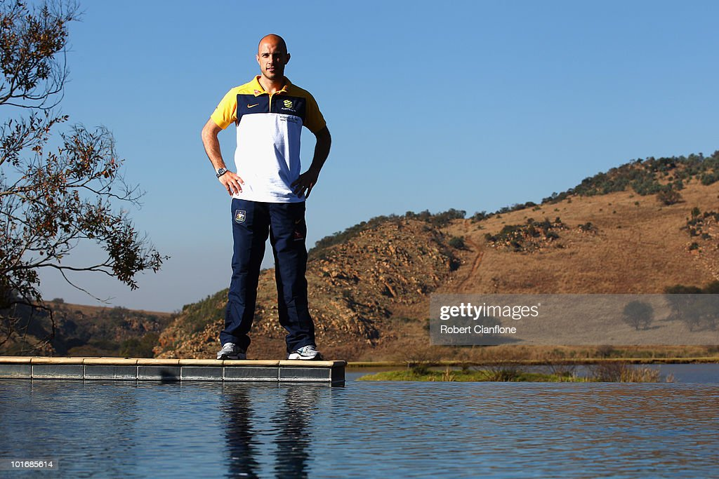 Mark Bresciano of Australia poses for a portrait as the Socceroos prepare ahead of the 2010 FIFA World Cup, at Kloofzicht Lodge on June 7, 2010 in Muldersdrift, South Africa.