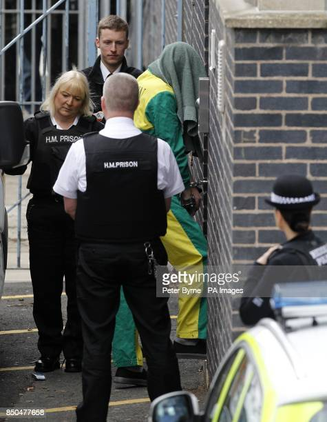 Mark Bridger arrives at Mold Crown Court charged with abducting and murdering April Jones and of unlawfully disposing of and concealing her body with...
