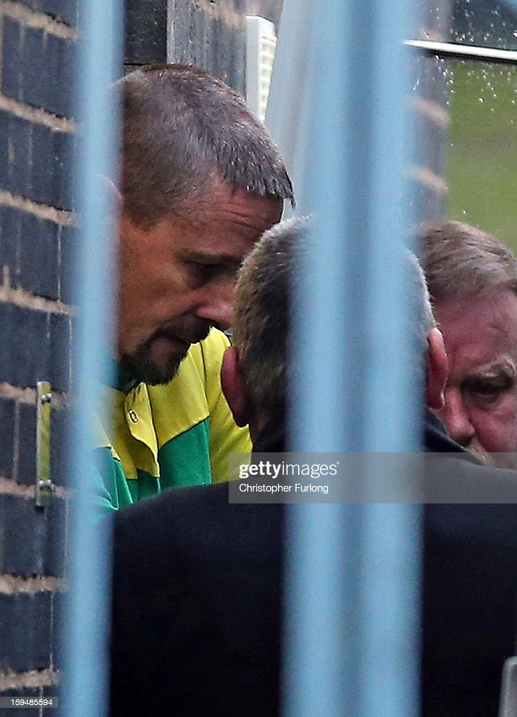 <a gi-track='captionPersonalityLinkClicked' href=/galleries/search?phrase=Mark+Bridger&family=editorial&specificpeople=9804094 ng-click='$event.stopPropagation()'>Mark Bridger</a> leaves Mold Crown Court after pleading not guilty to the murder of April Jones on January 14, 2013 in Mold, Wales. <a gi-track='captionPersonalityLinkClicked' href=/galleries/search?phrase=Mark+Bridger&family=editorial&specificpeople=9804094 ng-click='$event.stopPropagation()'>Mark Bridger</a>, 47, denied three charges which include the murder, abduction and attempting to pervert the course of justice following the disappearance of five-year-old April Jones in Machynlleth, Powys, on October 1, 2012.