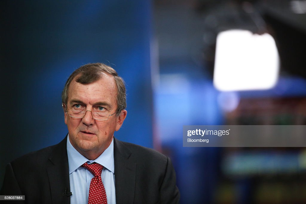 Mark Bristow, chief executive officer of Randgold Resources Ltd., pauses during a Bloomberg Television interview in London, U.K., on Wednesday, May 4, 2016. Randgold, which mines for the metal in Mali, Ivory Coast and the Democratic Republic of Congo, reported first-quarter profit of $54.4 million, 13 percent higher than a year earlier. Photographer: Chris Ratcliffe/Bloomberg via Getty Images