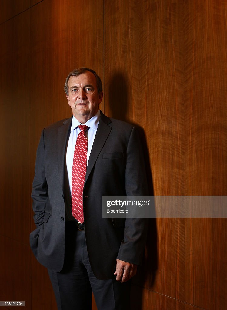 Mark Bristow, chief executive officer of Randgold Resources Ltd., poses for a photograph at the London Stock Exchange in London, U.K., on Wednesday, May 4, 2016. Randgold, which mines for the metal in Mali, Ivory Coast and the Democratic Republic of Congo, reported first-quarter profit of $54.4 million, 13 percent higher than a year earlier. Photographer: Chris Ratcliffe/Bloomberg via Getty Images
