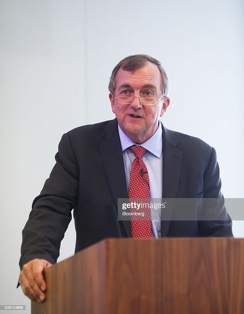 Mark Bristow, chief executive officer of Randgold Resources Ltd., speaks during a news conference at the London Stock Exchange in London, U.K., on Wednesday, May 4, 2016. Randgold, which mines for the metal in Mali, Ivory Coast and the Democratic Republic of Congo, reported first-quarter profit of $54.4 million, 13 percent higher than a year earlier. Photographer: Chris Ratcliffe/Bloomberg via Getty Images
