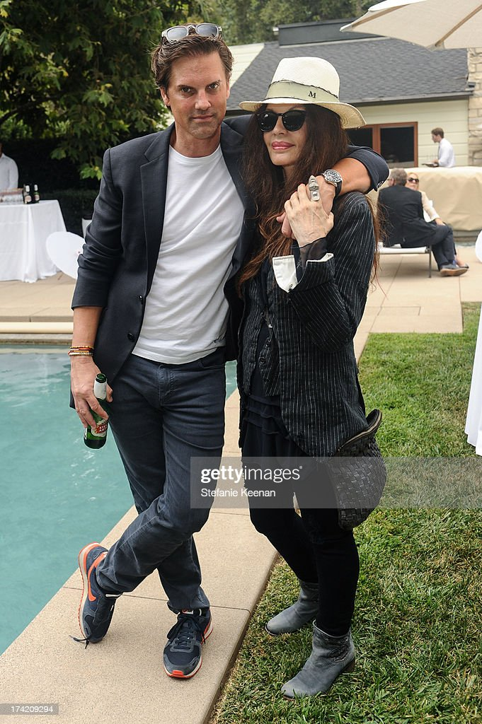 Mark Brooke and Loree Rodkin attend LAXART 2013 Garden Party on July 21, 2013 in Los Angeles, California.
