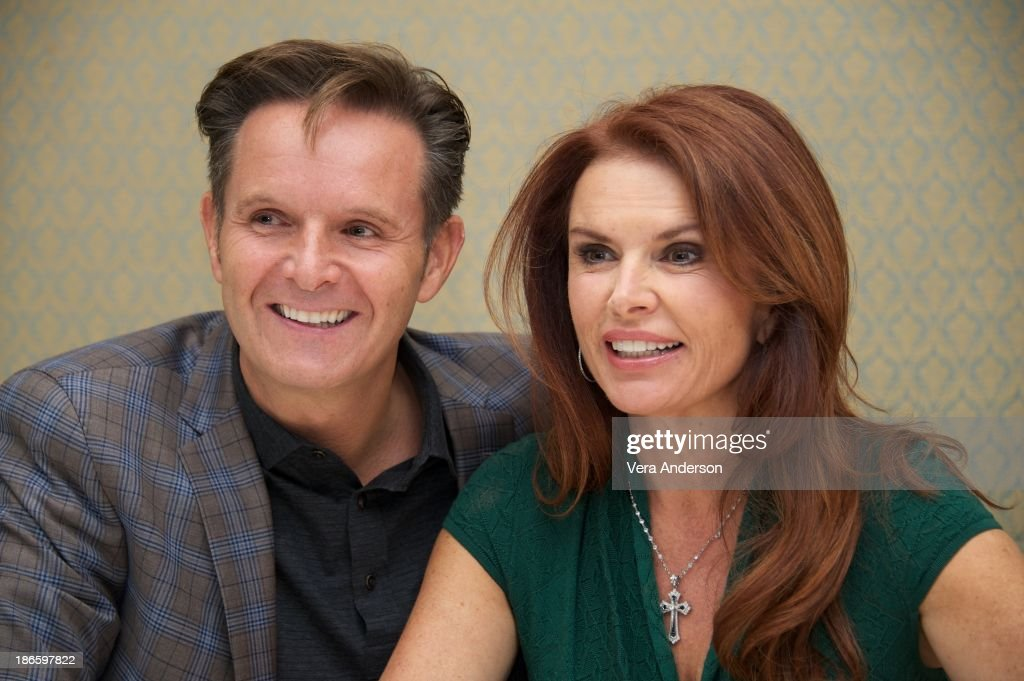 <a gi-track='captionPersonalityLinkClicked' href=/galleries/search?phrase=Mark+Burnett&family=editorial&specificpeople=204697 ng-click='$event.stopPropagation()'>Mark Burnett</a> and <a gi-track='captionPersonalityLinkClicked' href=/galleries/search?phrase=Roma+Downey&family=editorial&specificpeople=214162 ng-click='$event.stopPropagation()'>Roma Downey</a> at the History Channel's 'The Bible' Press Conference at the Four Seasons Hotel on October 30, 2013 in Beverly Hills, California.