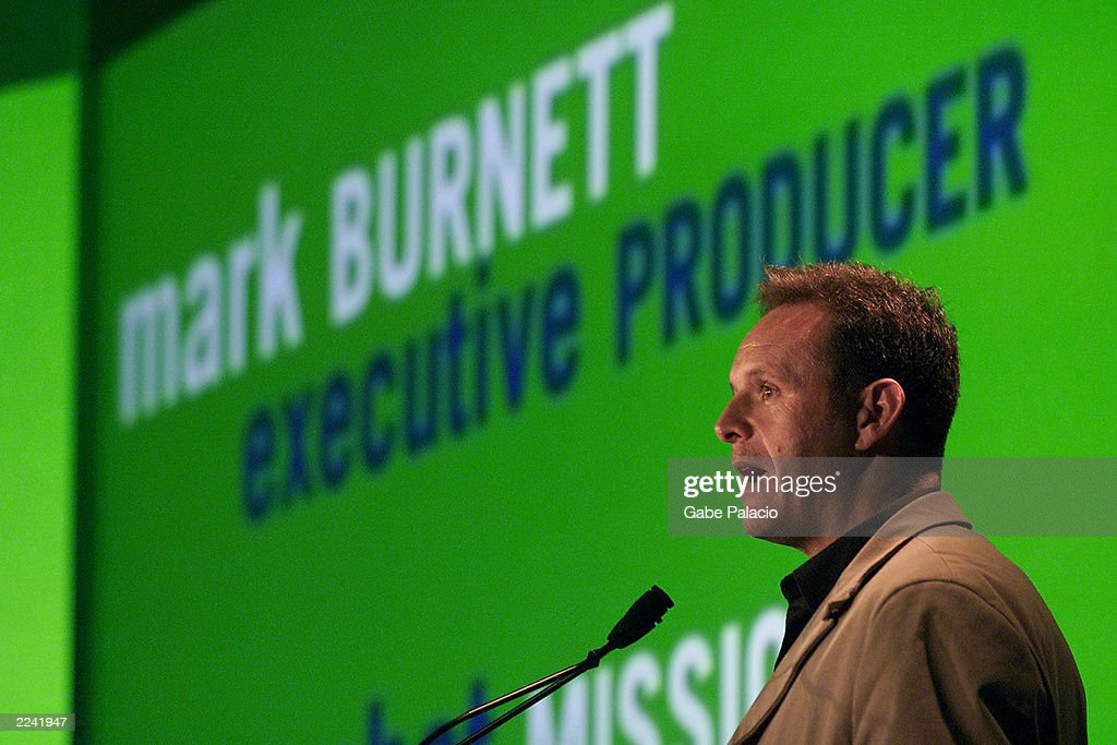 Mark Burnett, Executive Producer of USA Network's new program 'Combat Missions' and producer of Survivor and Eco Challenge at the USA Cable Upfront in New York City on April 30, 2001.