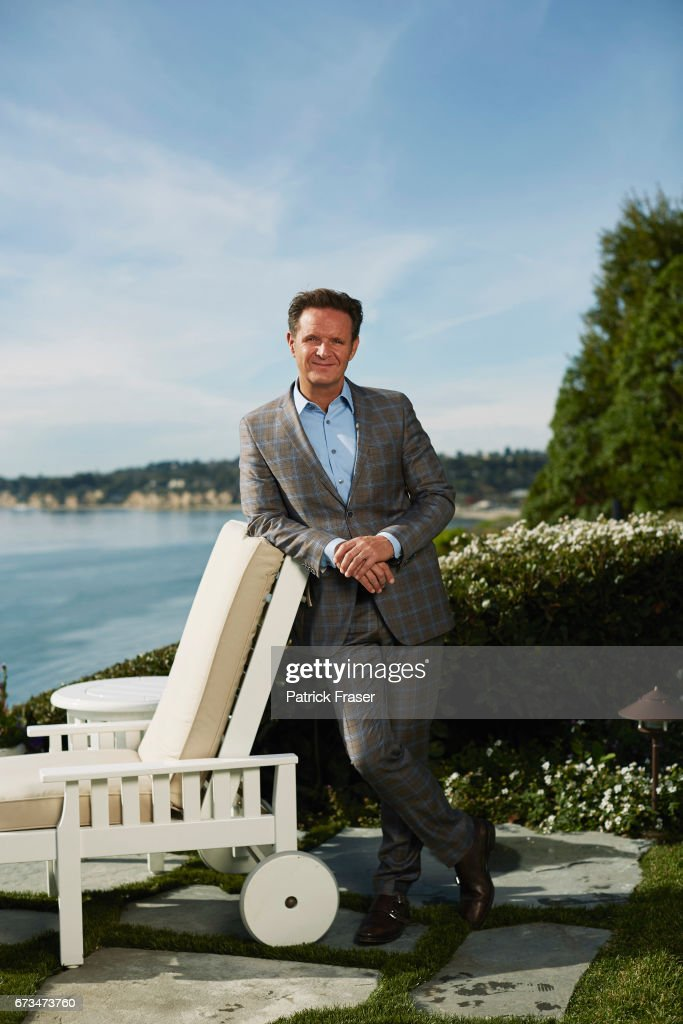 Mark Burnett is photographed for Los Angeles Magazine on December 16, 2013 in Los Angeles, California.