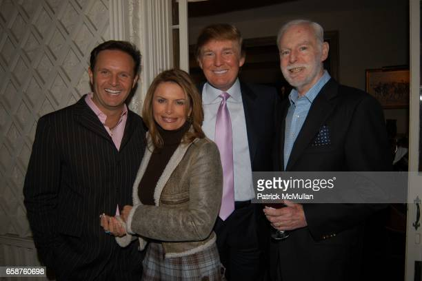 Mark Burnett Roma Downey Donald Trump and Leonard Goldberg attend Kathy and Rick Hilton's party for Donald Trump and 'The Apprentice' at the Hiltons'...