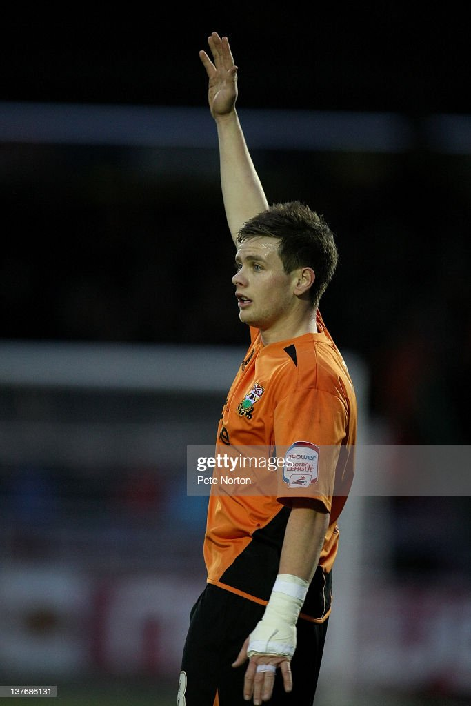 Mark Byrne of Barnet in action during the npower League Two match between Northampton Town and Barnet at Sixfields Stadium on January 21, 2012 in Northampton, England.