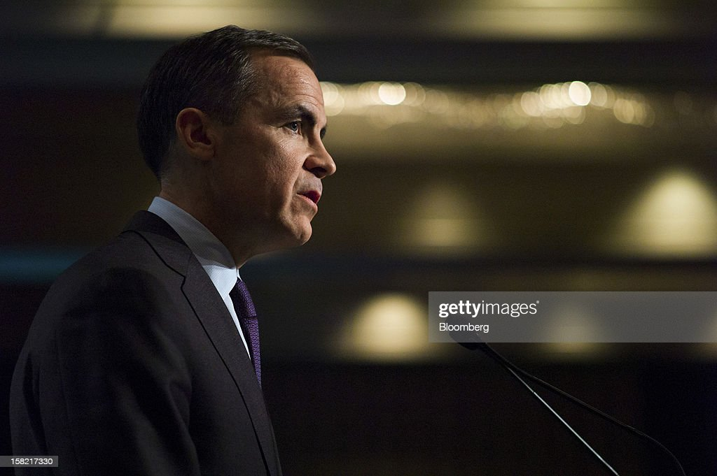 <a gi-track='captionPersonalityLinkClicked' href=/galleries/search?phrase=Mark+Carney&family=editorial&specificpeople=3028157 ng-click='$event.stopPropagation()'>Mark Carney</a>, governor of the Bank of Canada, speaks to the CFA Society Toronto in Toronto, Ontario, Canada, on Tuesday, Dec. 11, 2012. Carney said central bank guidance on the path of interest rates may be more useful in circumstances such as major slumps or financial imbalances. Photographer: Ian Willms/Bloomberg via Getty Images