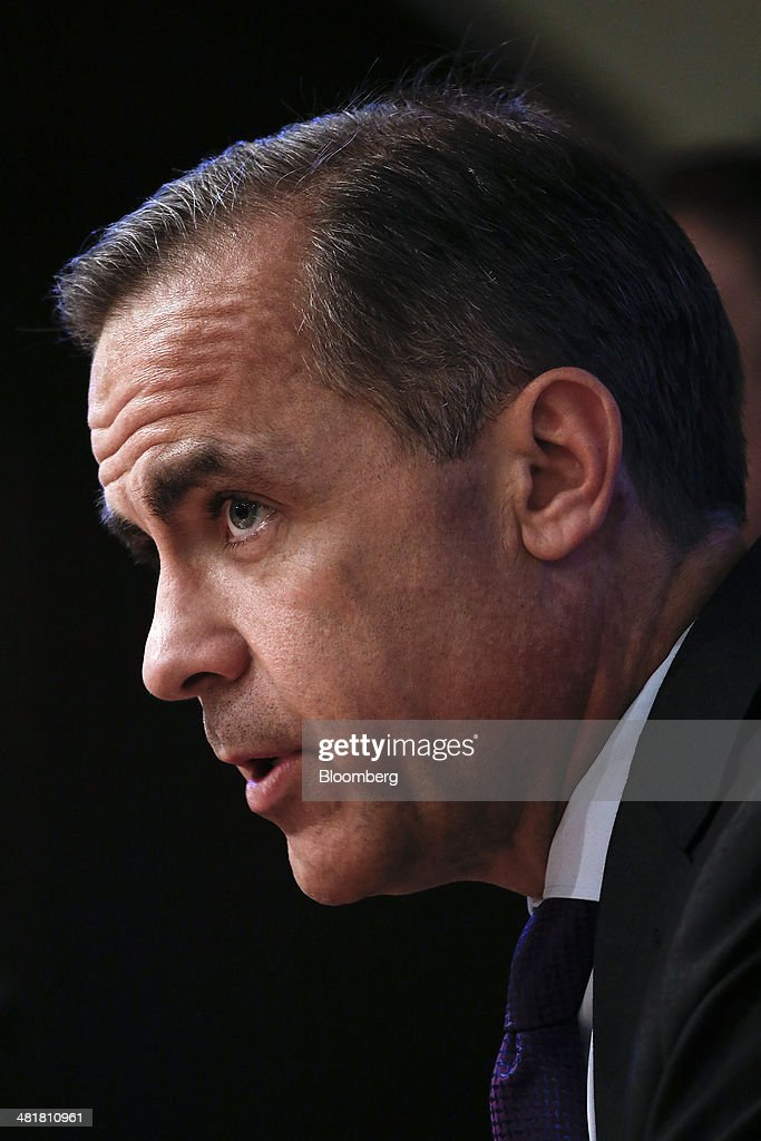<a gi-track='captionPersonalityLinkClicked' href=/galleries/search?phrase=Mark+Carney&family=editorial&specificpeople=3028157 ng-click='$event.stopPropagation()'>Mark Carney</a>, governor of the Bank of England and chairman of the Financial Stability Board (FSB), speaks during a news conference after the board's plenary meeting at the Bank of England in London, U.K., on Monday, March 31, 2014. Moving toward a common set of bank resolution rules is one of the key issues when the Financial Stability Board meets in London today, as the club of central bankers and regulators seeks to complete its mission of avoiding a repeat of the turmoil that followed the 2008 collapse of Lehman Brothers Holdings Inc. Photographer: Simon Dawson/Bloomberg via Getty Images