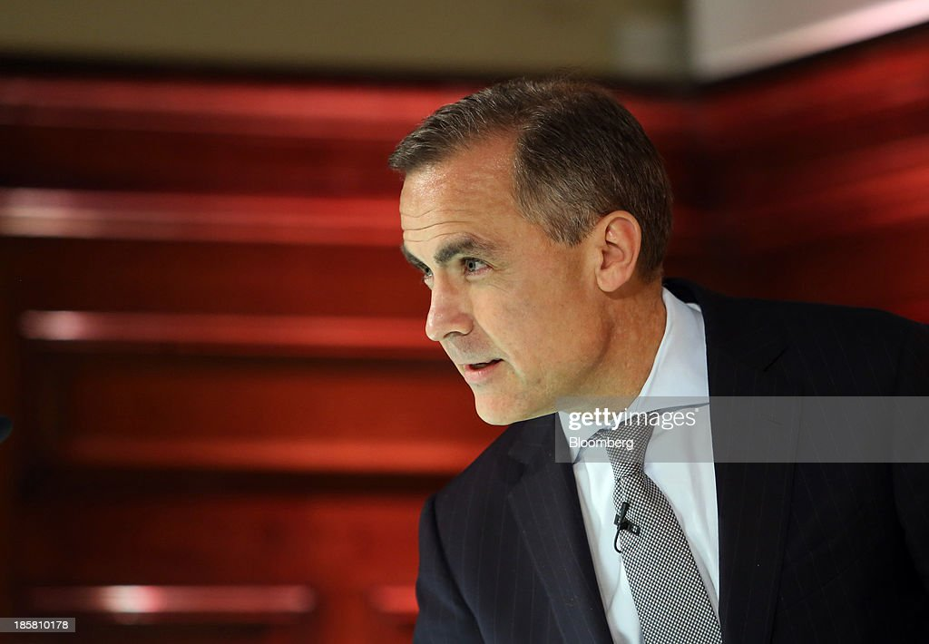 <a gi-track='captionPersonalityLinkClicked' href=/galleries/search?phrase=Mark+Carney&family=editorial&specificpeople=3028157 ng-click='$event.stopPropagation()'>Mark Carney</a>, governor of the Bank of England, arrives to give a speech during an event to mark the 125th anniversary of the Financial Times in London, U.K., on Thursday, Oct. 24, 2013. U.K. economic growth accelerated to its fastest pace in more than three years in the third quarter as the recovery continued across all main industries. Photographer: Chris Ratcliffe/Bloomberg via Getty Images