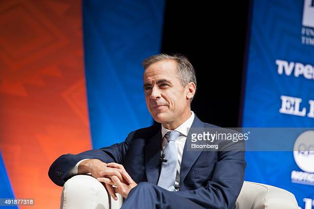 Mark Carney governor of the Bank of England listens during a panel discussion at the World Bank Group and International Monetary Fund annual meetings...