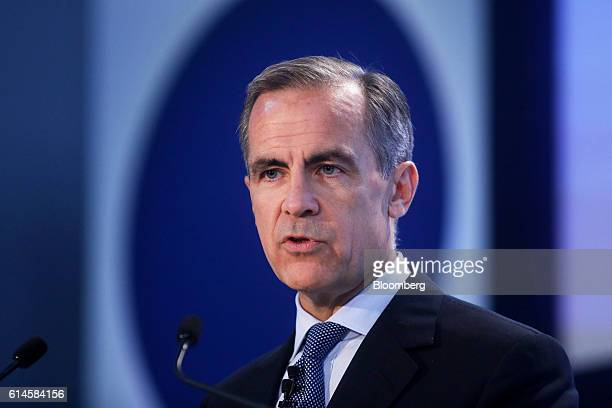 Mark Carney governor of the Bank of England speaks at the Future Forum event in Birmingham UK on Friday Oct 14 2016 Carney said he'll tolerate an...