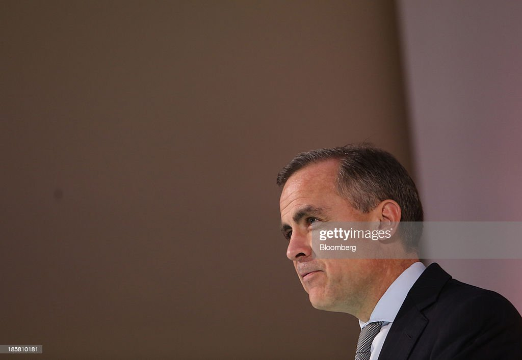 <a gi-track='captionPersonalityLinkClicked' href=/galleries/search?phrase=Mark+Carney&family=editorial&specificpeople=3028157 ng-click='$event.stopPropagation()'>Mark Carney</a>, governor of the Bank of England, speaks during an event to mark the 125th anniversary of the Financial Times in London, U.K., on Thursday, Oct. 24, 2013. U.K. economic growth accelerated to its fastest pace in more than three years in the third quarter as the recovery continued across all main industries. Photographer: Chris Ratcliffe/Bloomberg via Getty Images