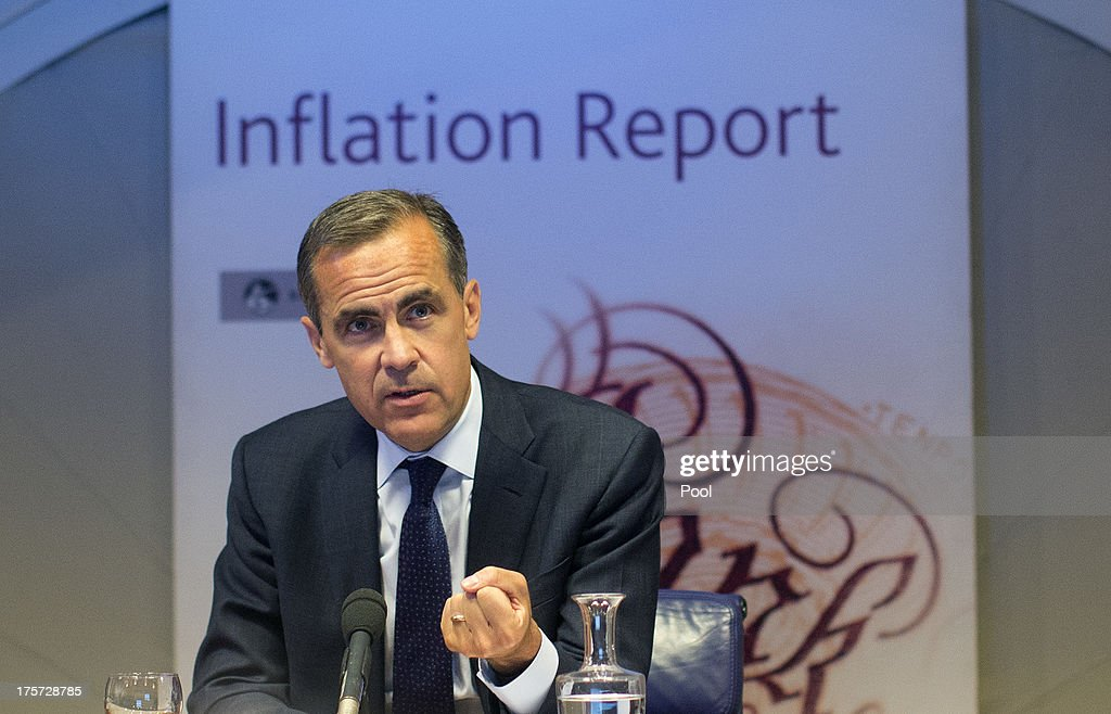 New Bank of England Governor Mark Carney Holds First Inflation Report News Conference